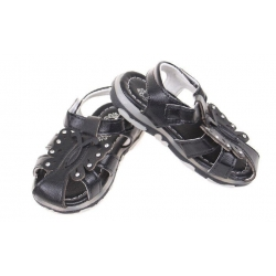 Dětské sandálky blikající černé vel.23