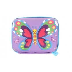 Penál 1patrový 3D motýl fialový