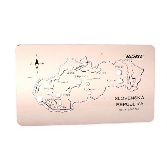 Šablona mapa Slovenské republiky