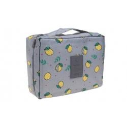 Kosmetická taška Travel šedá s citróny