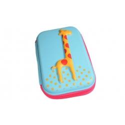 Penál 1patrový žirafa tyrkysová
