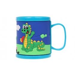 Hrnek dětský plastový (modrý s krokodýlem)