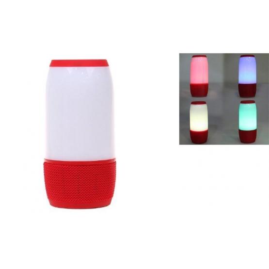 LED bluetooth reproduktor červený