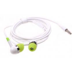 Drátová sluchátka zelená