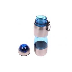 Láhev na pití s plastovým poutkem modrá
