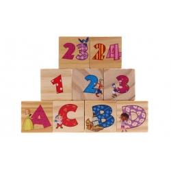 Dětské kostky s čísly a písmeny
