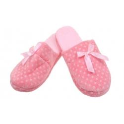 Pantofle zateplené růžové s kosočtverci vel.36/37