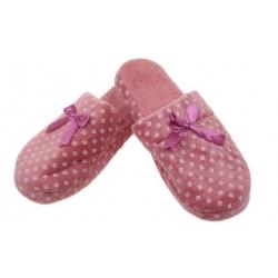 Pantofle zateplené tmavě růžové s kosočtverci vel.36/37