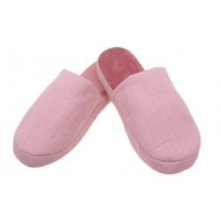 Pantofle zateplené růžové s pruhy vel. 40/41