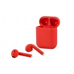Sluchátka i12 TWS a dobíjecí box červená