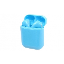 Sluchátka i12 TWS a dobíjecí box modrá