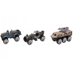 Sada 3ks vojenských autíček