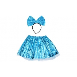 Kostým modrý s mašlí
