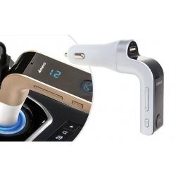 Multifunkční bluetooth handsfree do auta Car G7 bílo-stříbrné