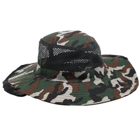 Rybářský klobouk maskáčový vzor 1