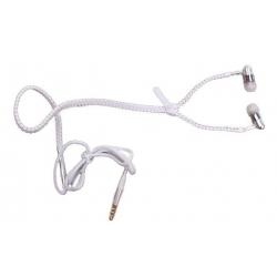 Zipová sluchátka bílá