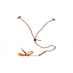 Zipová sluchátka oranžová