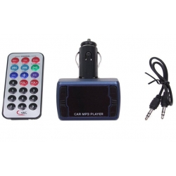 Bluetooth handsfree do auta s ovladačem modré