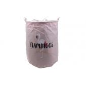 Koš na prádlo růžový Flamingos