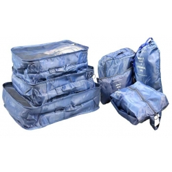 Cestovní organizér do kufru 6ks tmavě modrý