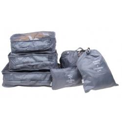 Cestovní organizér do kufru 6ks šedý