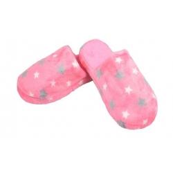 Pantofle zateplené růžové s hvězdami vel.36/37