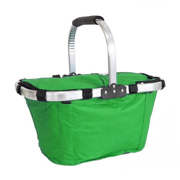 Nákupní košík skládací , Zelená