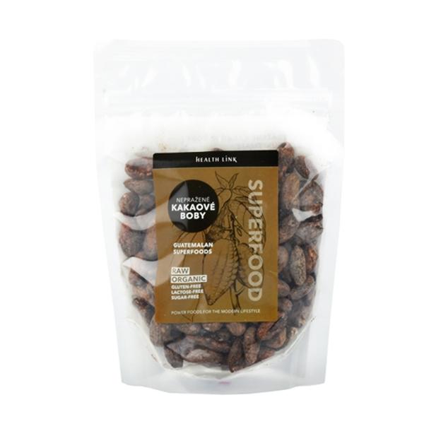 Health link Raw Bio Nepražené kakaové boby 100 g