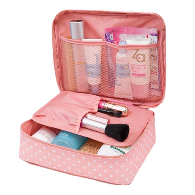 GENA TRAVEL Cestovní taška na kosmetiku růžová