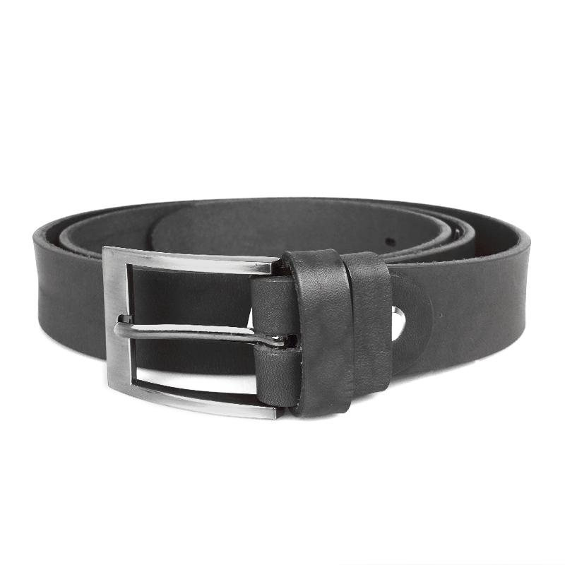 Pánský kožený pásek MPA001-4 černý, 90 cm