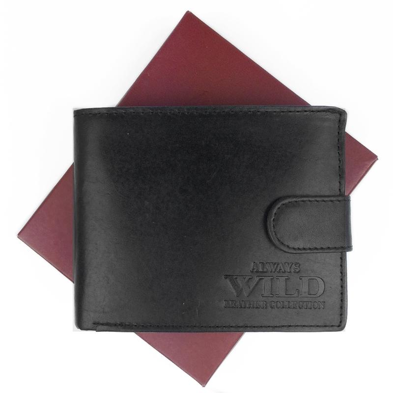 Always Wild pánská kožená peněženka N992L MHU, Černá
