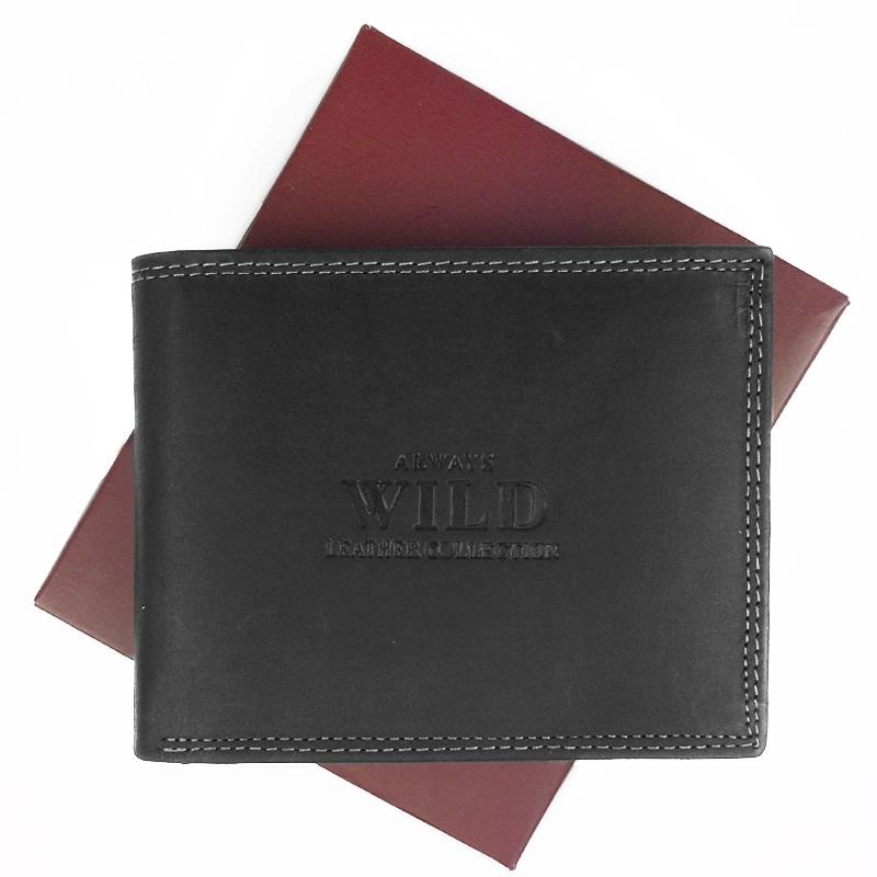 Always Wild Pánská kožená peněženka N992-MHU, Hnědá