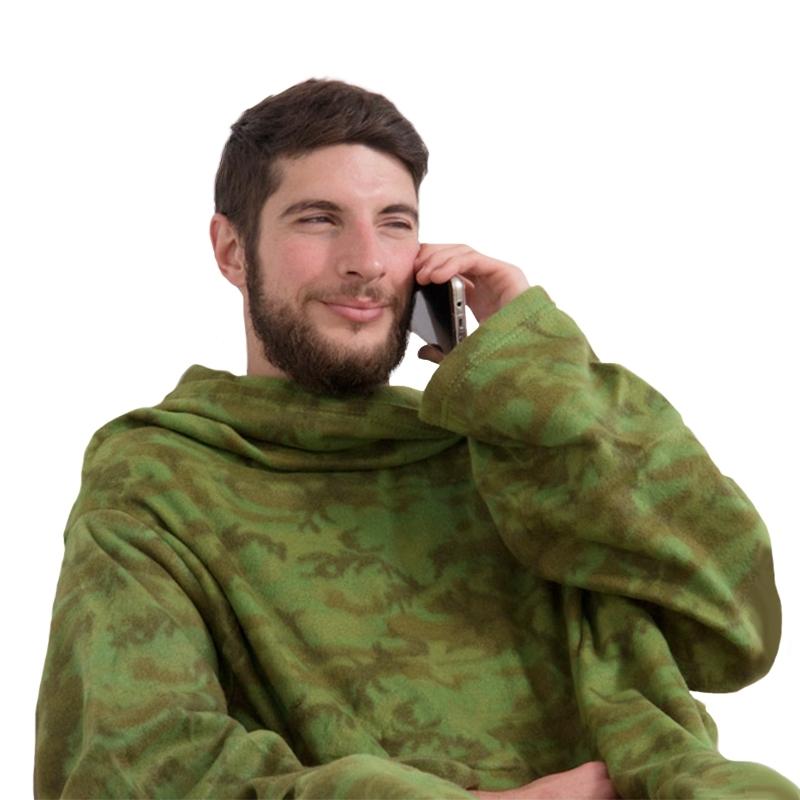 SnugSnug Deka s rukávy 180x140 cm Commando
