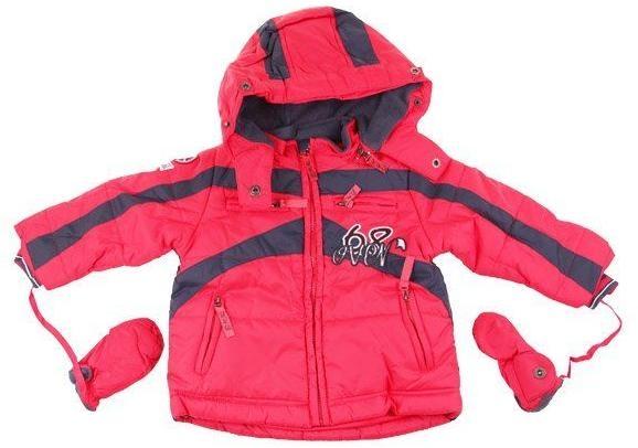 Dětská zimní bunda s palčáky vel. 80