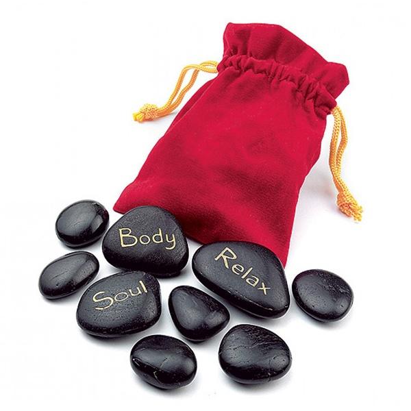 Masážní lávové kameny, Čierna kapsička