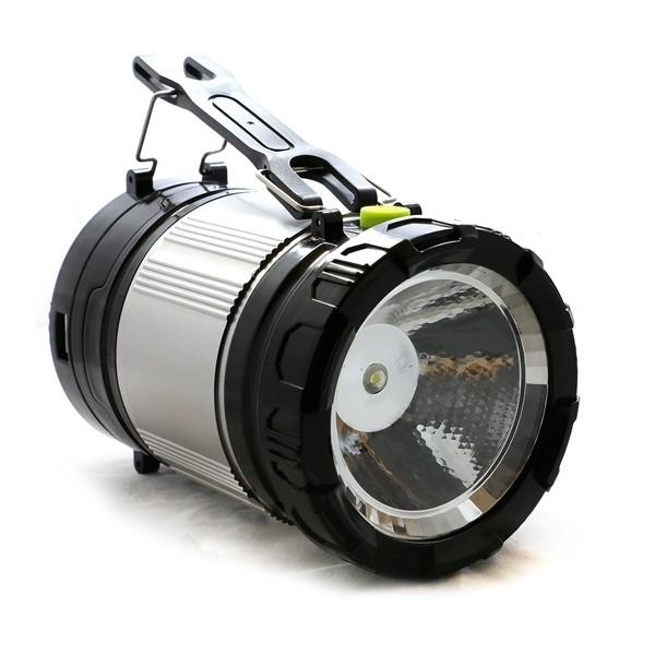 KEMPINGOVÁ VÝSUVNÁ SOLÁRNÍ LAMPA KT-611 (CAMPING LAMP SOLAR ZOOM 2in1), Zlatá